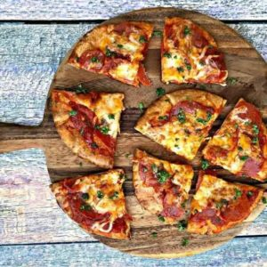 Air Fryer Pepperoni Pizza