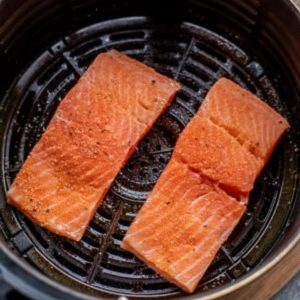 Arrange salmon in air fryer basket