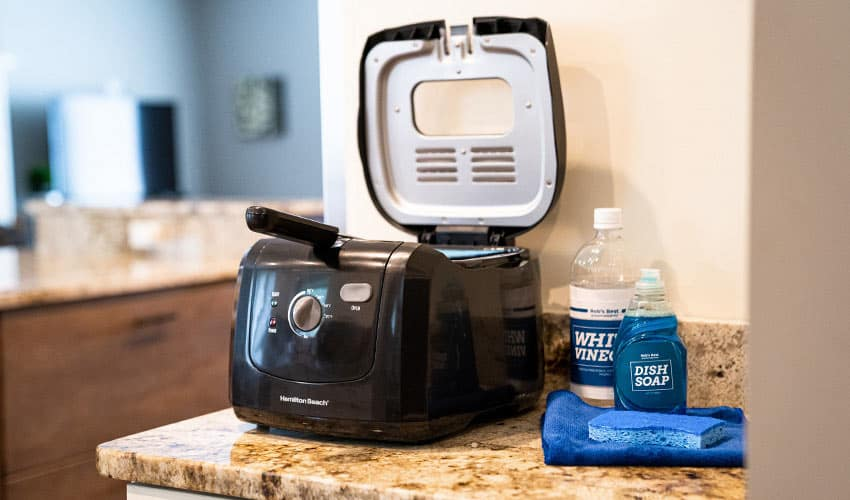 Cleaning your air fryer with dish soap