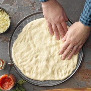 pull the dough into a shape that fits the air fryer basket.