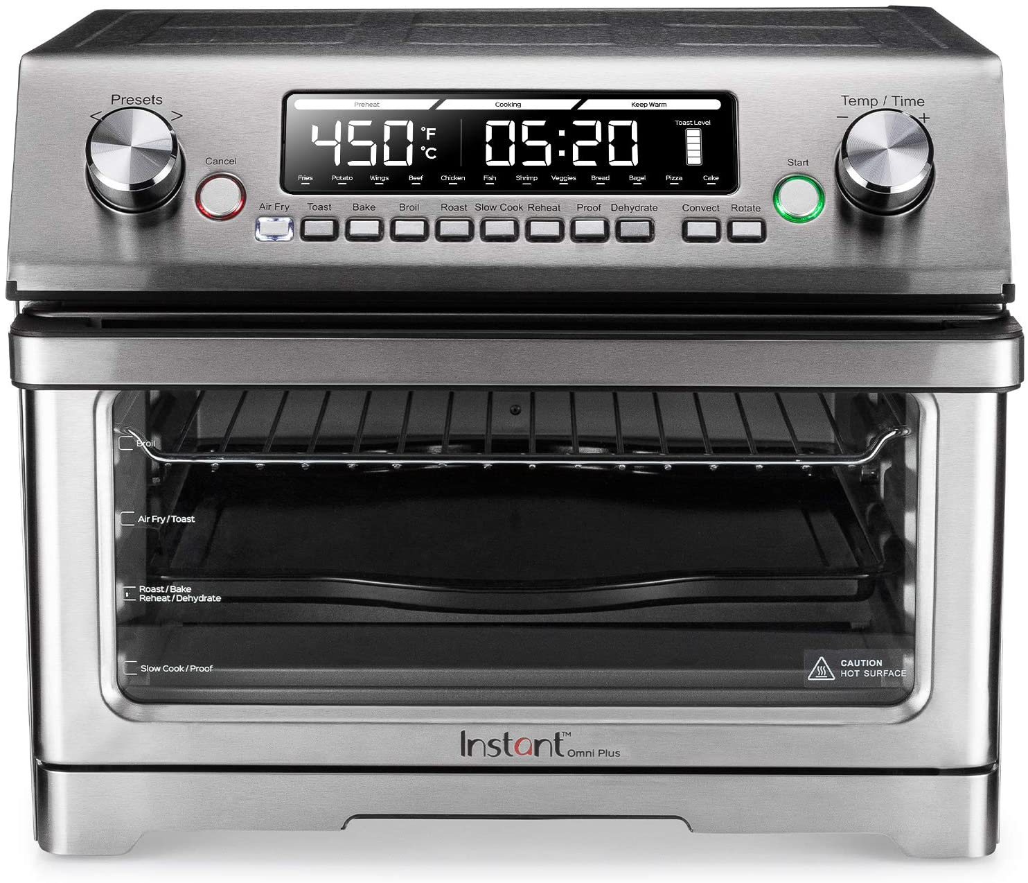 Best User-Friendly- Instant Pot plus Air Fryer Toaster Oven