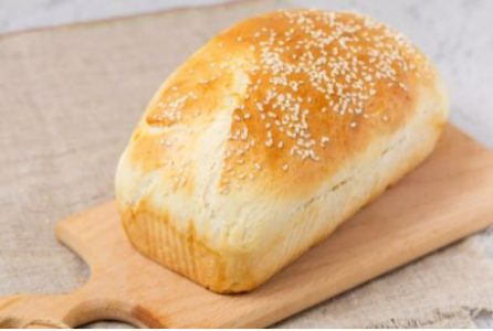 Bake 30 minutes at 375 degrees Fahrenheit or until the bread sounds hollow when lightly tapped on the bottom