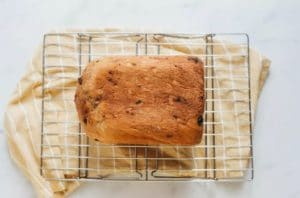 Before serving the bread, remove it from the pan and cool completely on a wire rack.