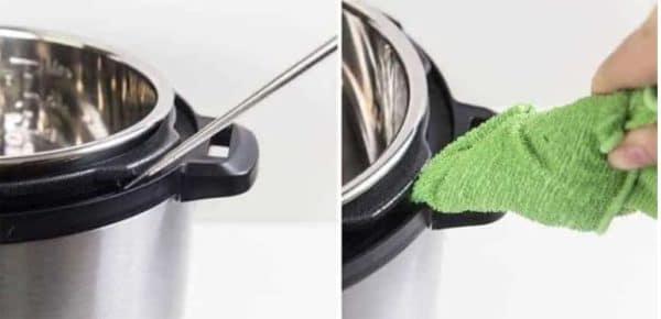 Clean an Instant Pot Rim