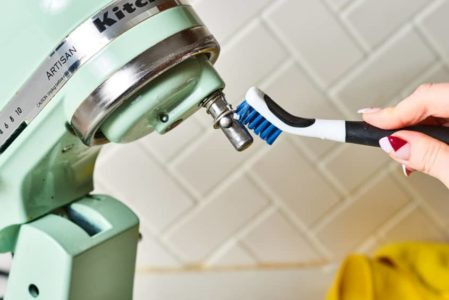 Remove grime and residue with a Q-tip or small brush.