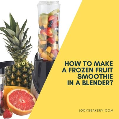 How to make a frozen fruit smoothie in a blender?