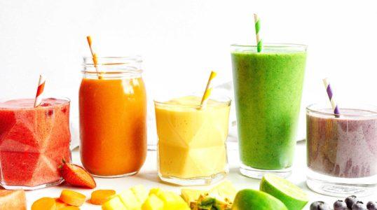 Nutrients in smoothie